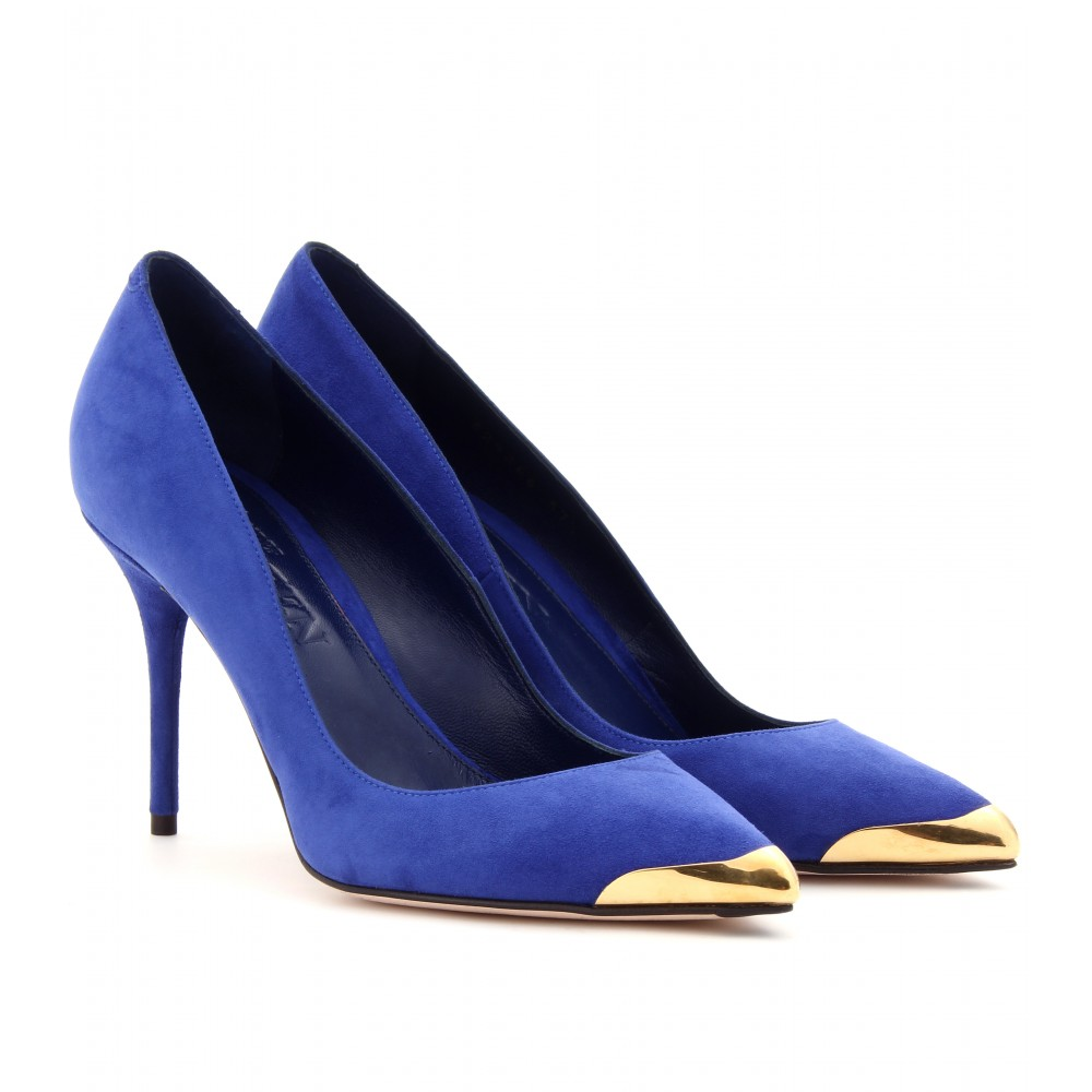 Alexander Mcqueen Suede Pumps In Blue Lyst