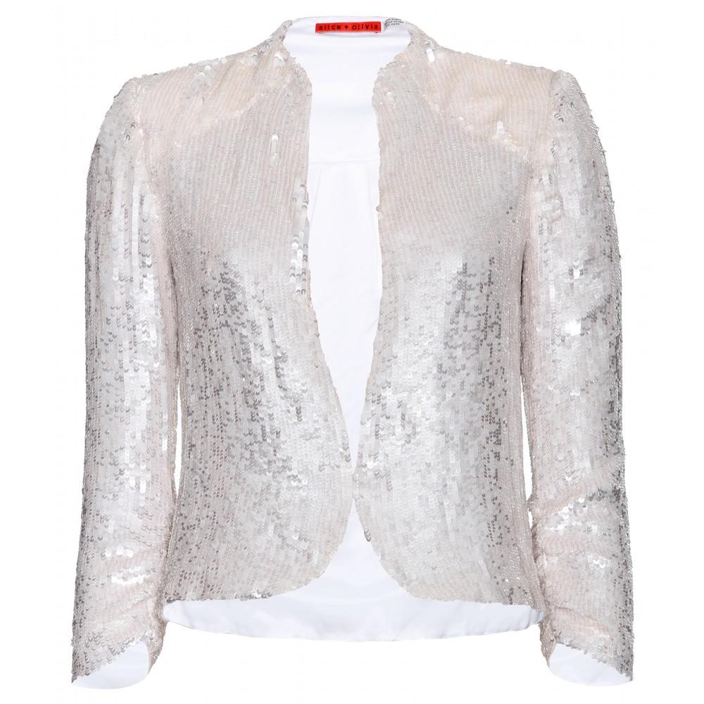 7e21feed26 Lyst - Alice + Olivia Wheeler Sequin Embellished Blazer in Metallic