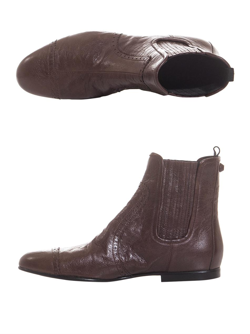 Lyst Balenciaga Arena Leather Chelsea Boots In Brown