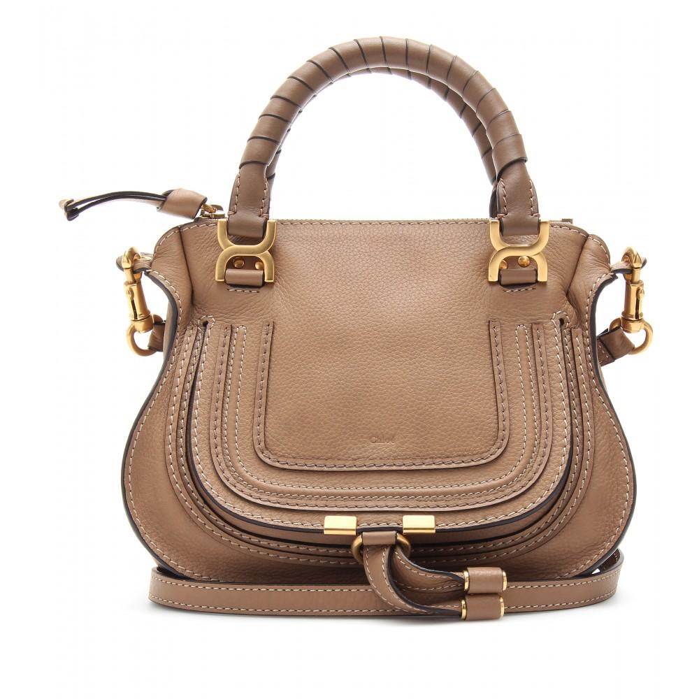 Chlo¨¦ Baby Marcie Leather Handbag in Brown (nut)   Lyst