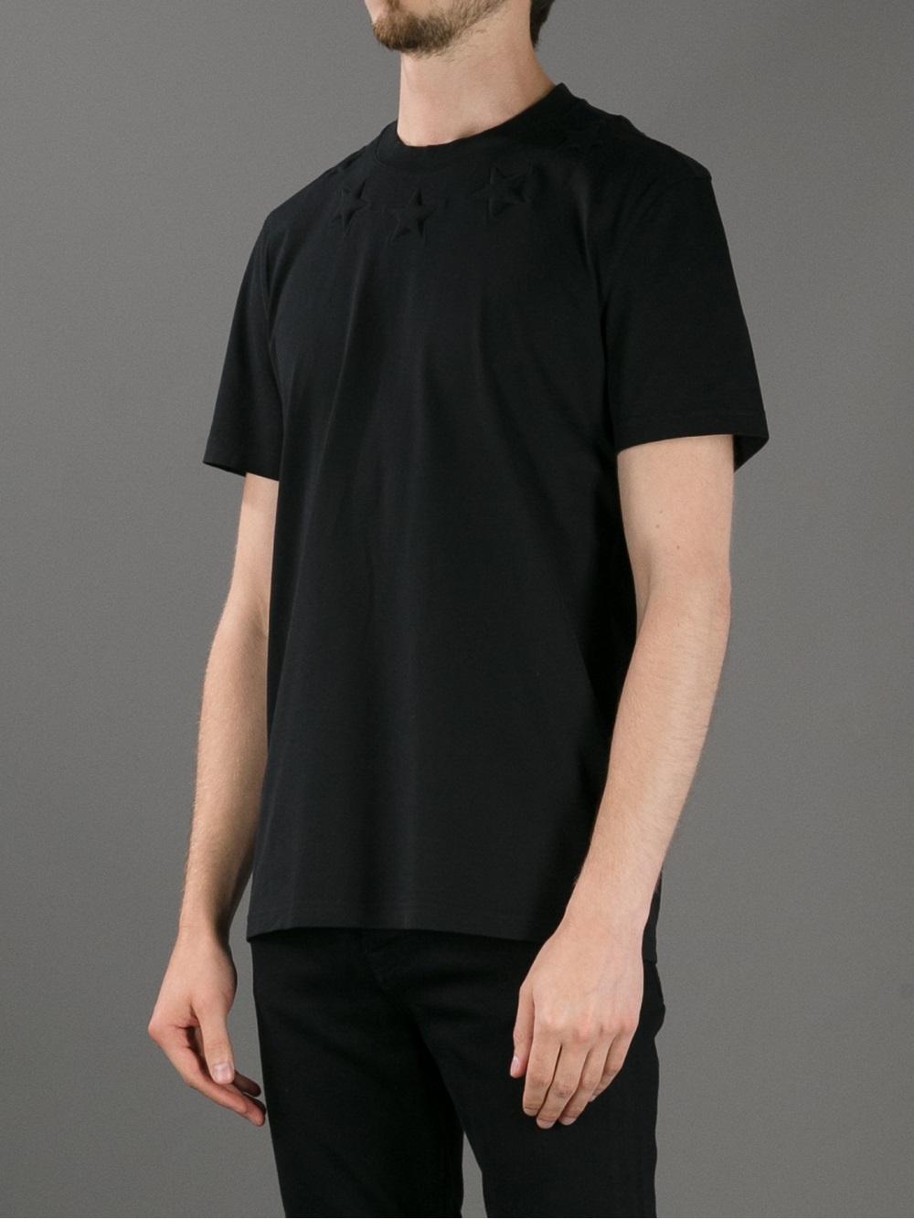 308c3cbd0016 Lyst - Givenchy Star Detailed Tshirt in Black for Men