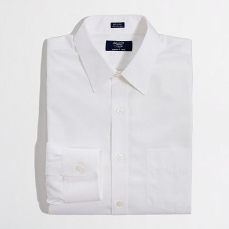 Factory Wrinkle Free Point Collar Dress Shirt In