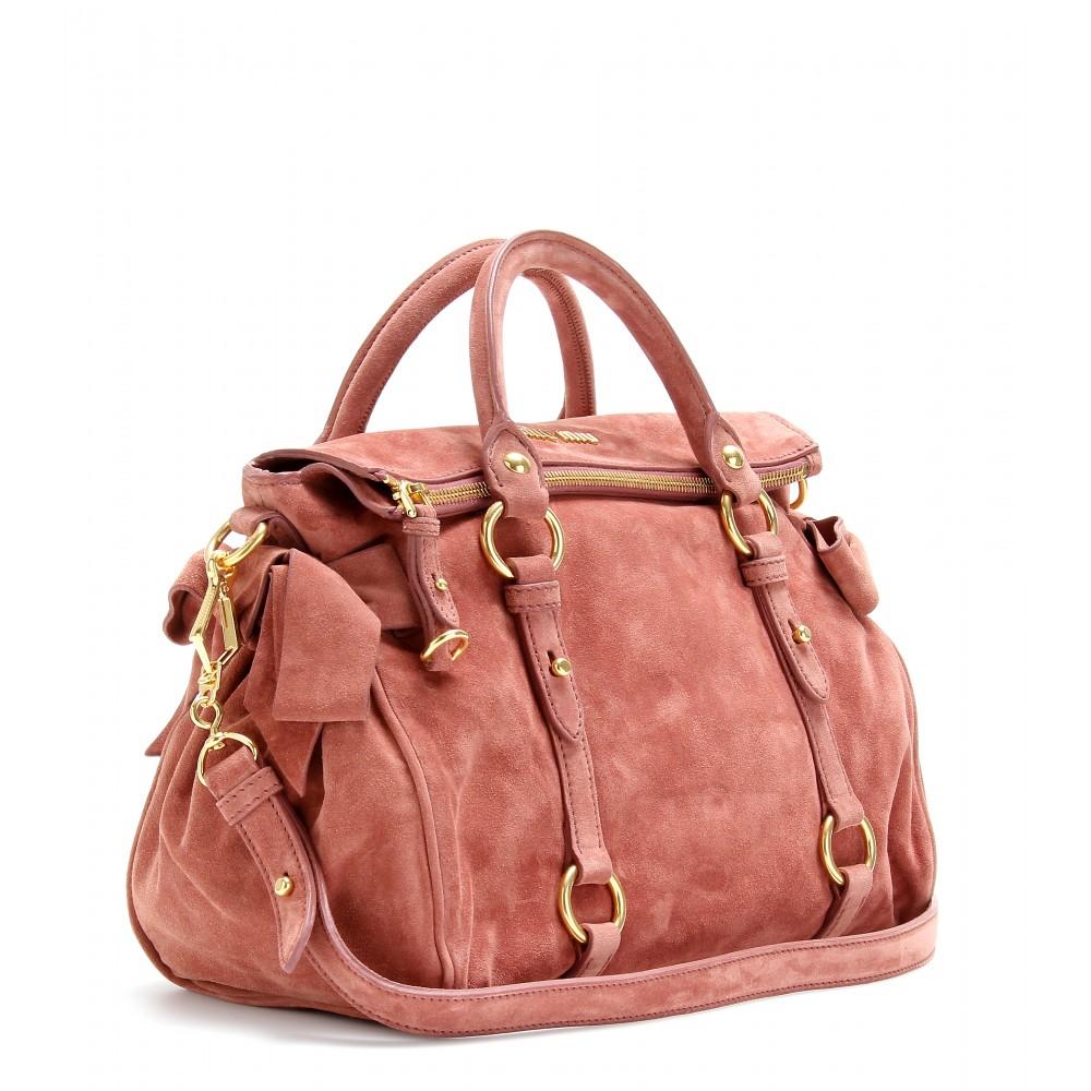 83c2ed084b70 Miu Miu Bow Bag Suede