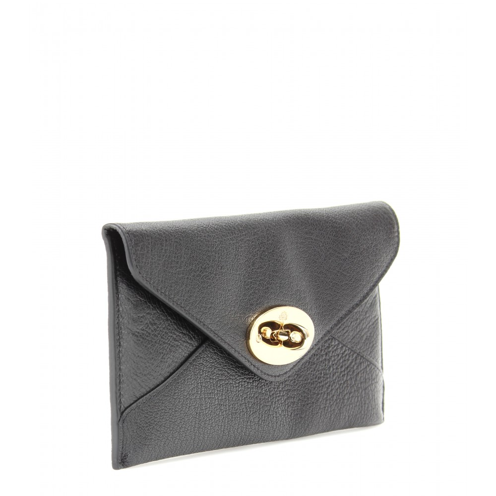 29032e8083 Lyst - Mulberry Leather Envelope Wallet in Black