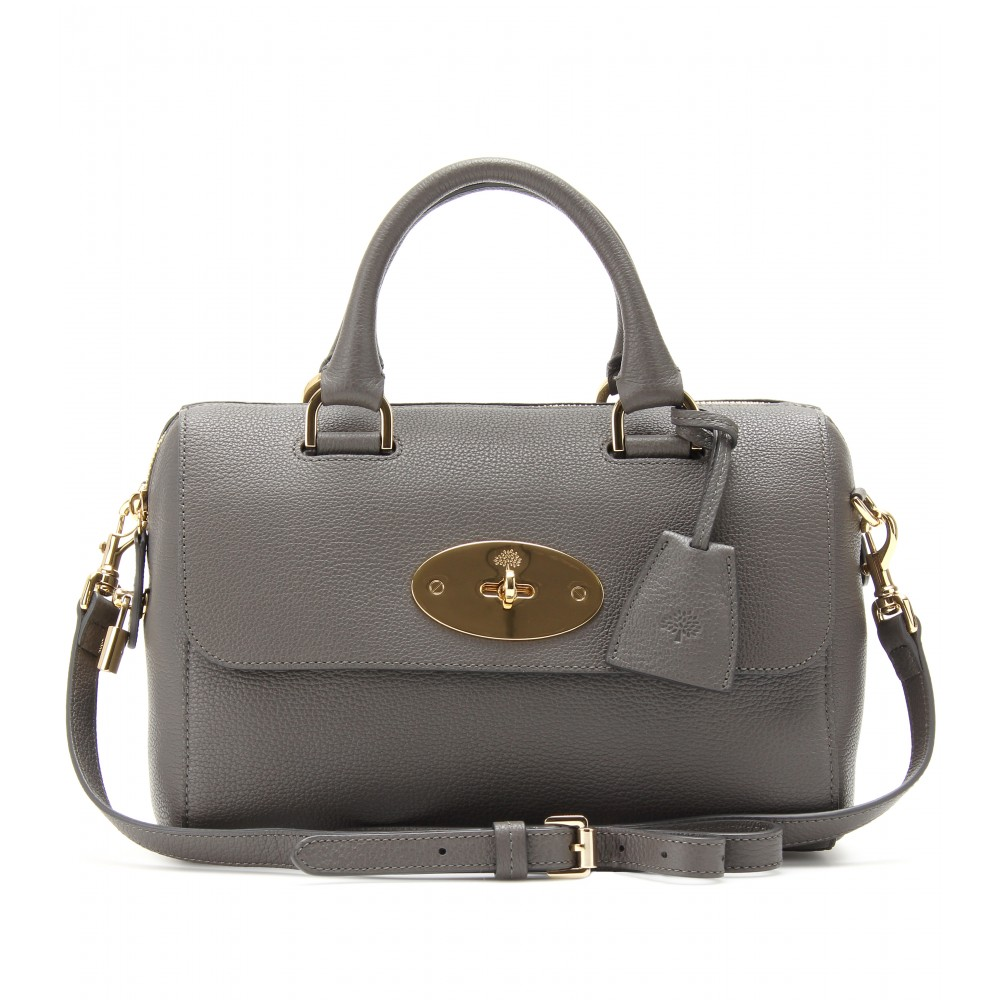 91b3d83435e4 Mulberry Small Del Rey Leather Tote in Gray - Lyst