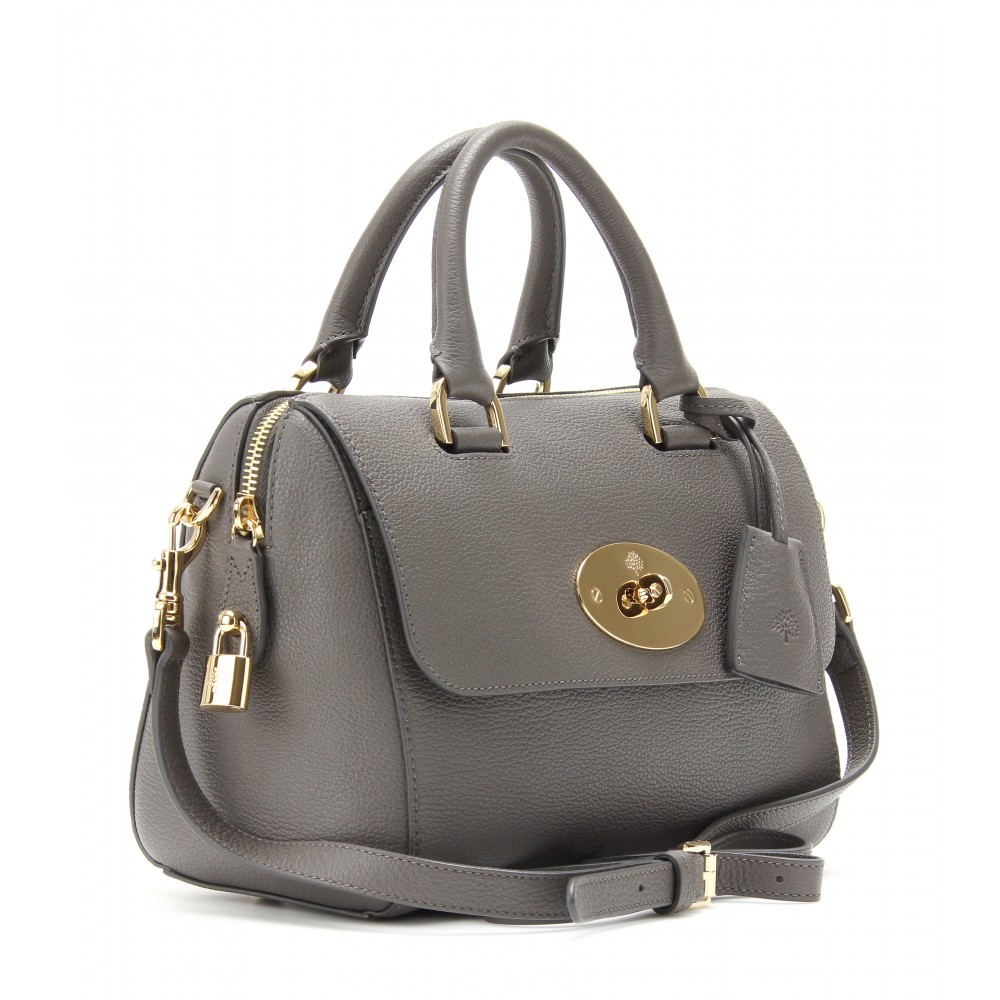 f178ff2d6a Mulberry Small Del Rey Leather Tote in Gray - Lyst