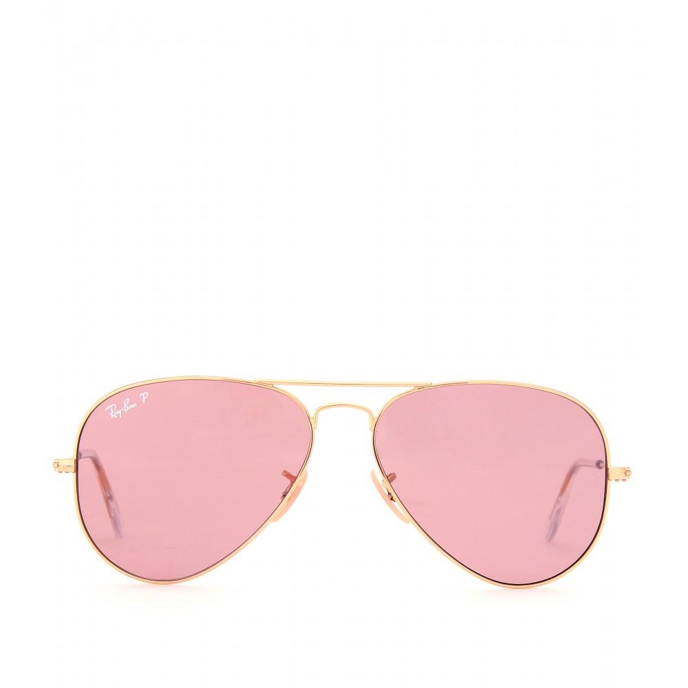 Lyst - Ray-Ban Aviator Large 58 Metal Sunglasses in Metallic 538c68e44684