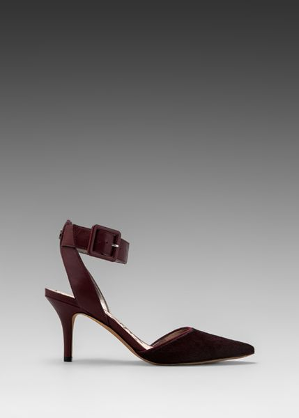 Sam Edelman Okala Heel in Burgundy in Purple (Burgundy)