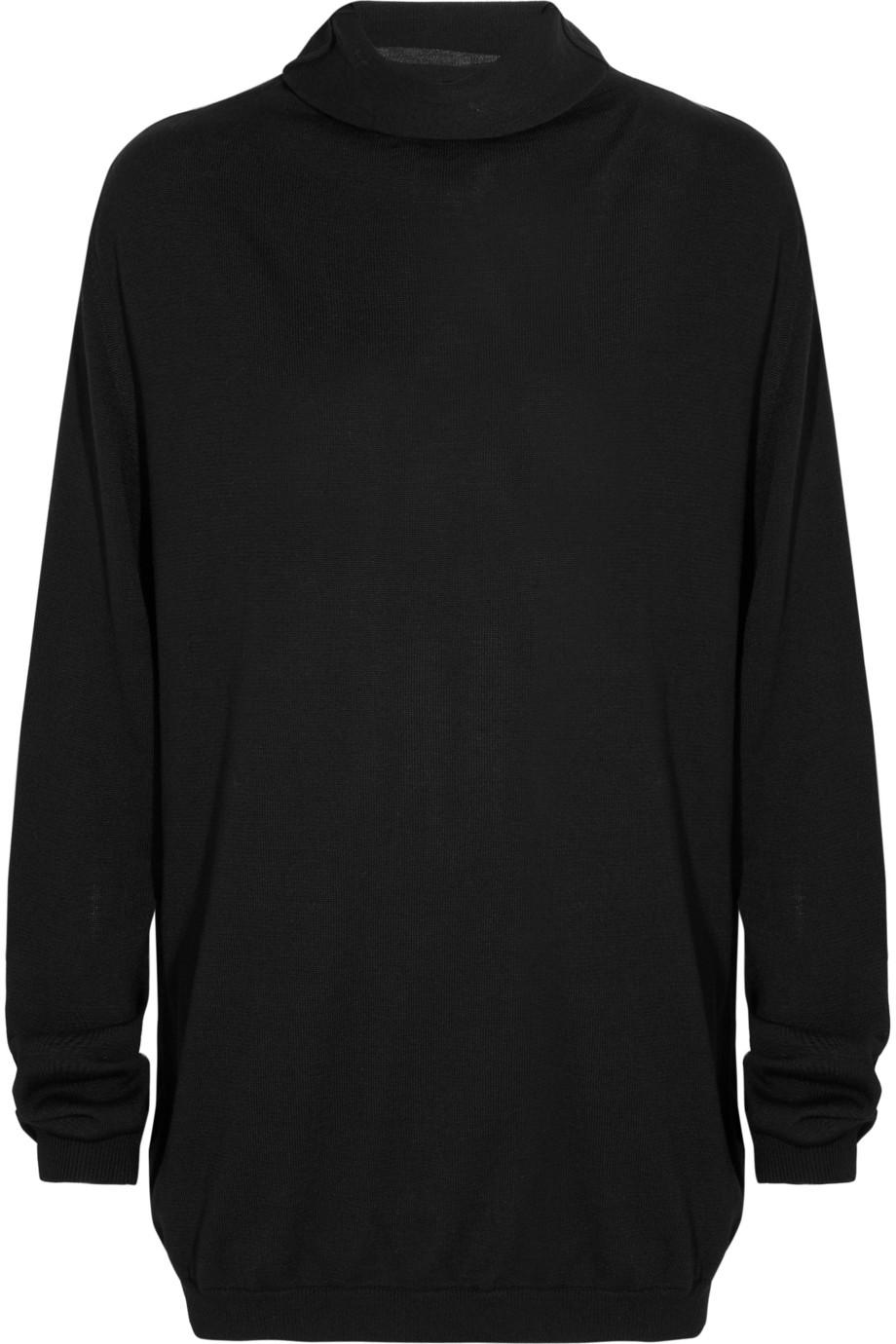 haider ackermann wool turtleneck sweater in black lyst. Black Bedroom Furniture Sets. Home Design Ideas