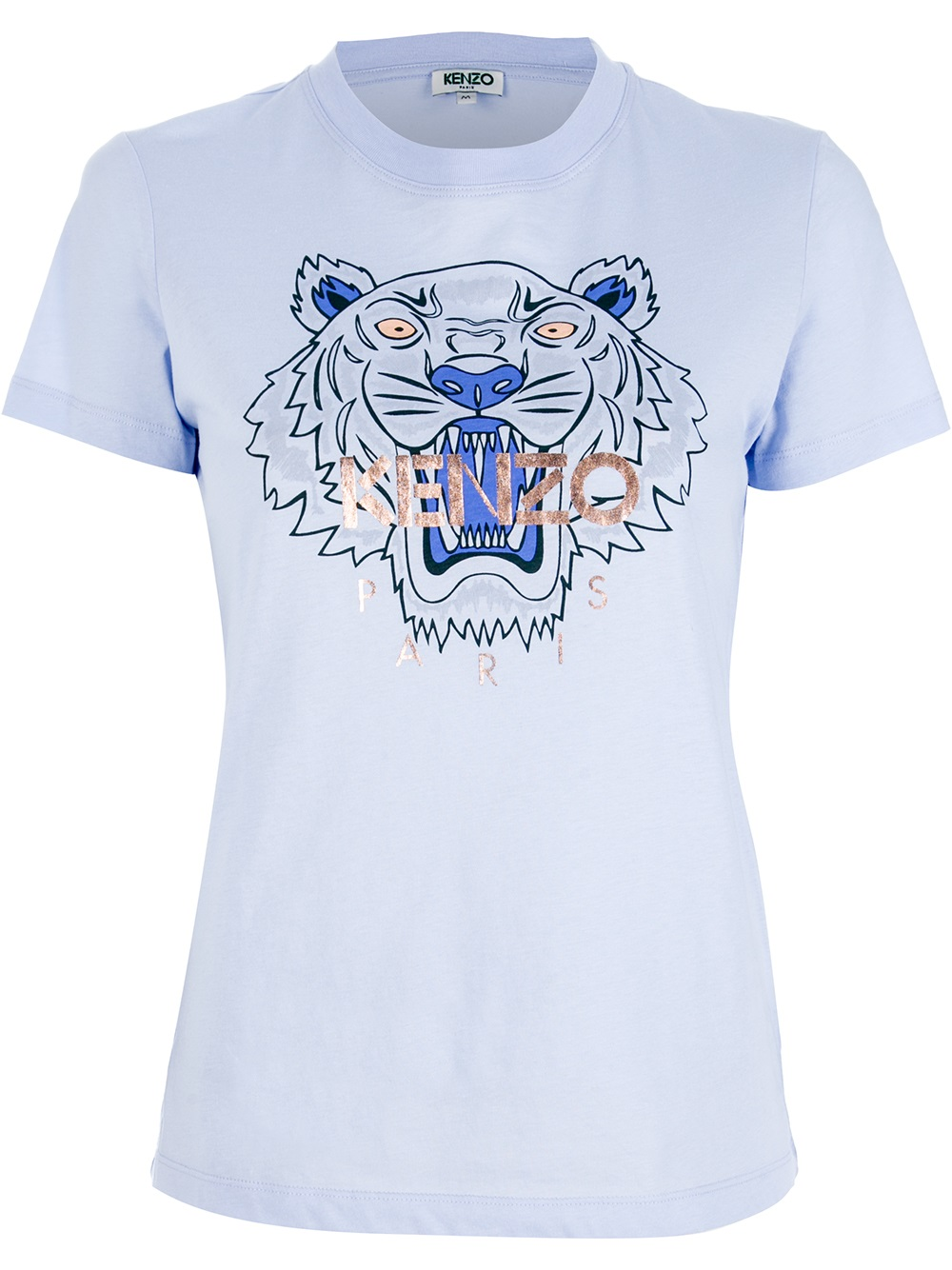 Lyst - KENZO Tiger Print T-Shirt in Blue 5205a98b4f