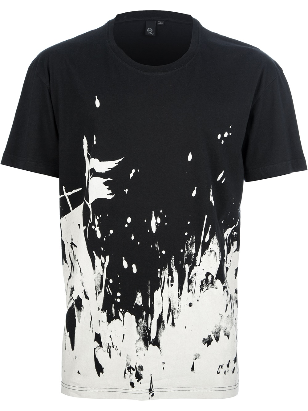 Paint For T Shirts Designs | Lyst Mcq Paint Splattered Tshirt In Black For Men