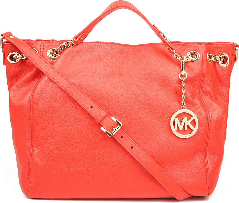 f019dce178 ... netherlands michael kors jet set chain large tote in red lyst 3861a  2d7ff