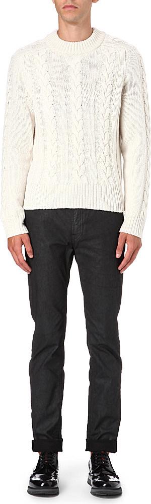 Acne Studios Ace Pleather Jeans in Black for Men