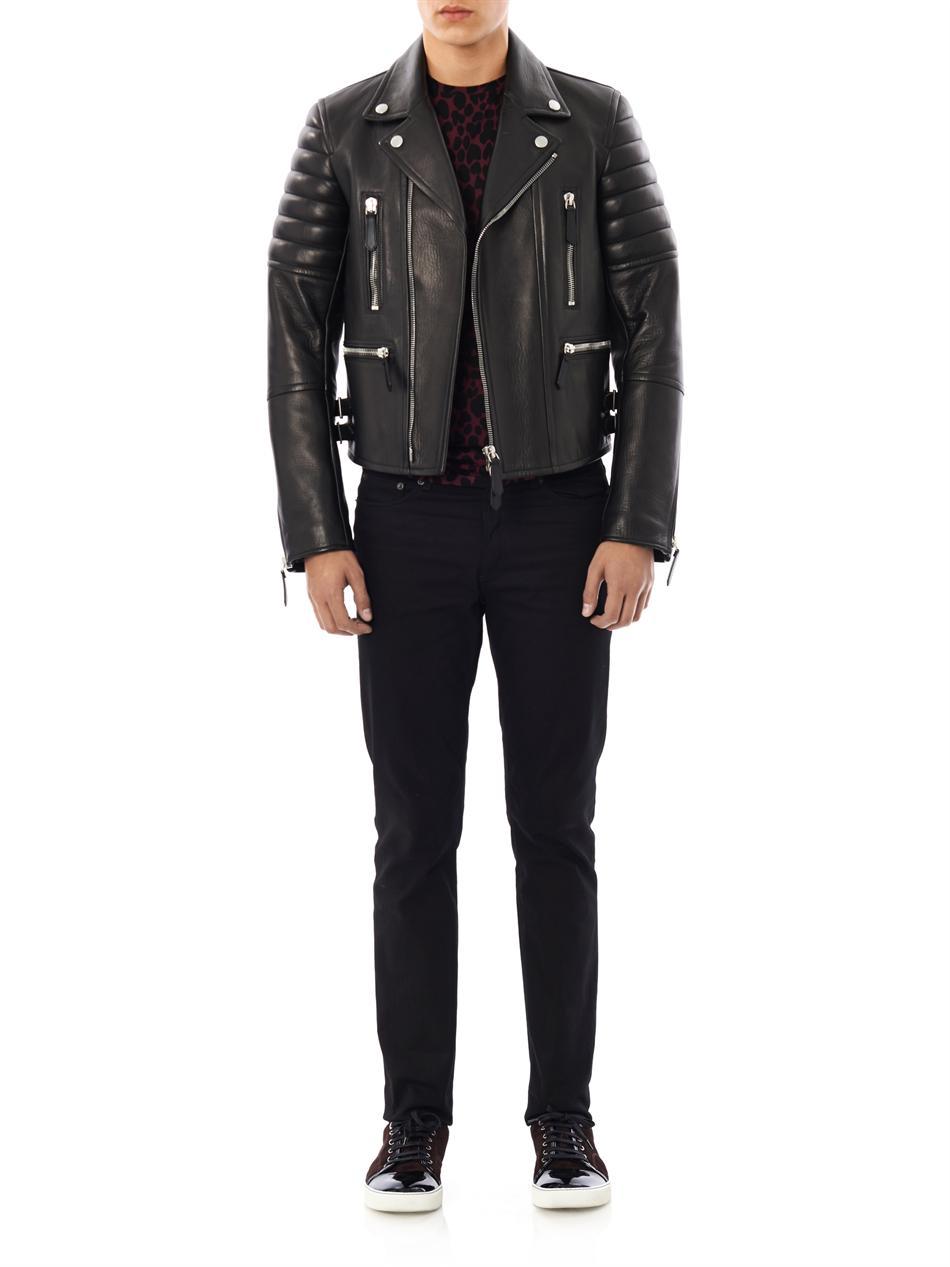 Burberry Prorsum Leather Biker Jacket In Black For Men Lyst