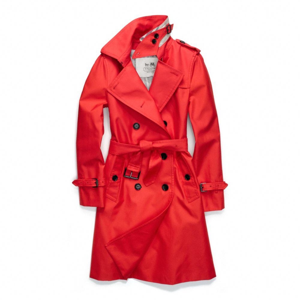 Coach Trench Coats. Items. Related Styles Coach Orange Red Coat. $ $ US 2 (XS) Coach Black Coat. $ US 2 (XS) Coach Tan Sateen Walking Coat. $