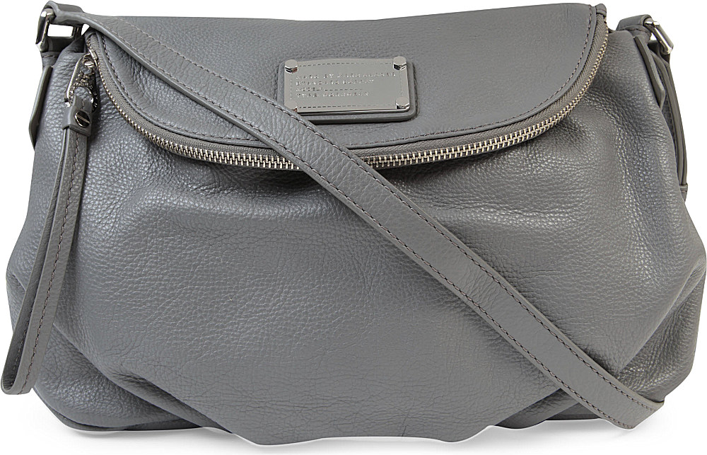 5c7020a773a2 Marc By Marc Jacobs Classic Q Natasha Leather Crossbody Bag in Gray ...