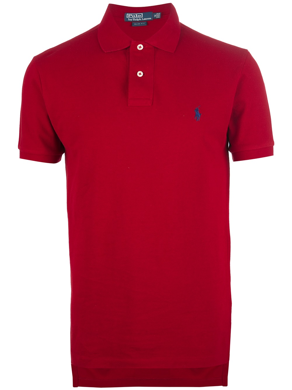 Polo ralph lauren slim fit polo shirt in red for men lyst for Mens slim fit polo shirt