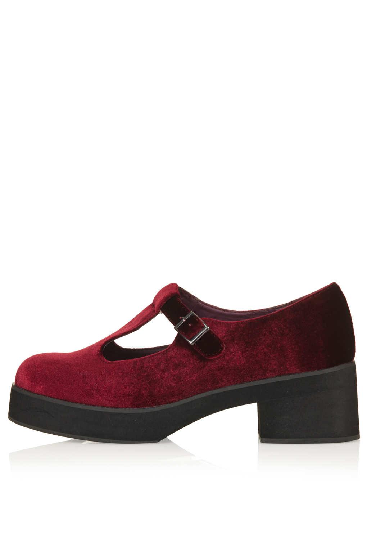 Black T Bar Shoes Topshop
