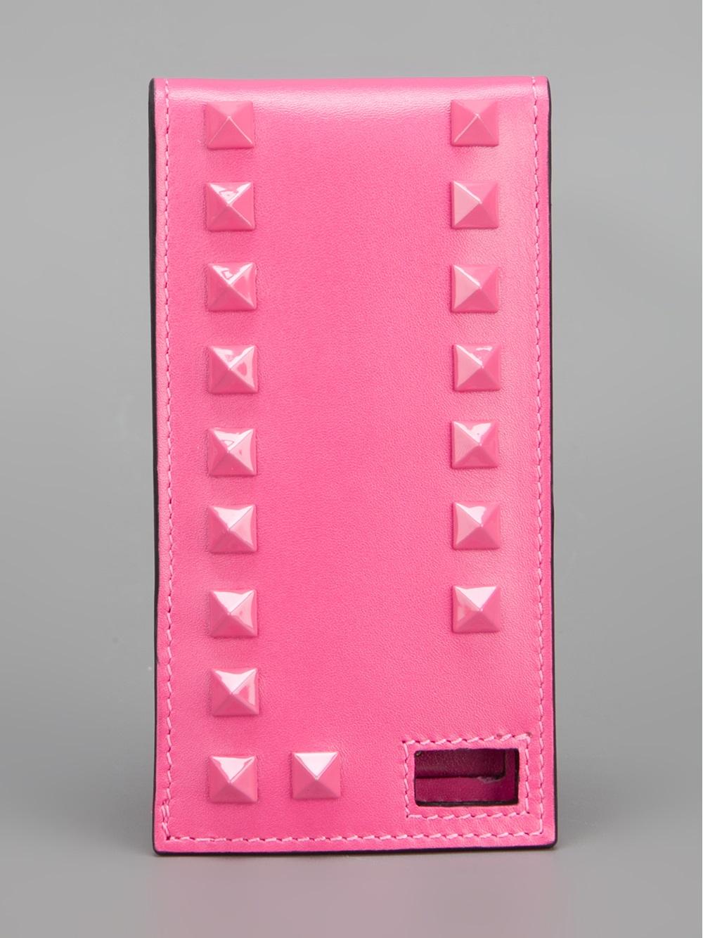 new styles 91de1 a809b Valentino Pink Rockstud Iphone Case