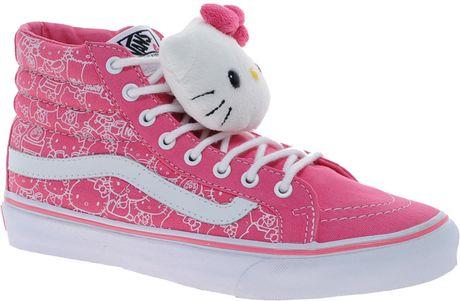 Vans Hello Kitty Sk8 Hi Slim Trainers in Pink