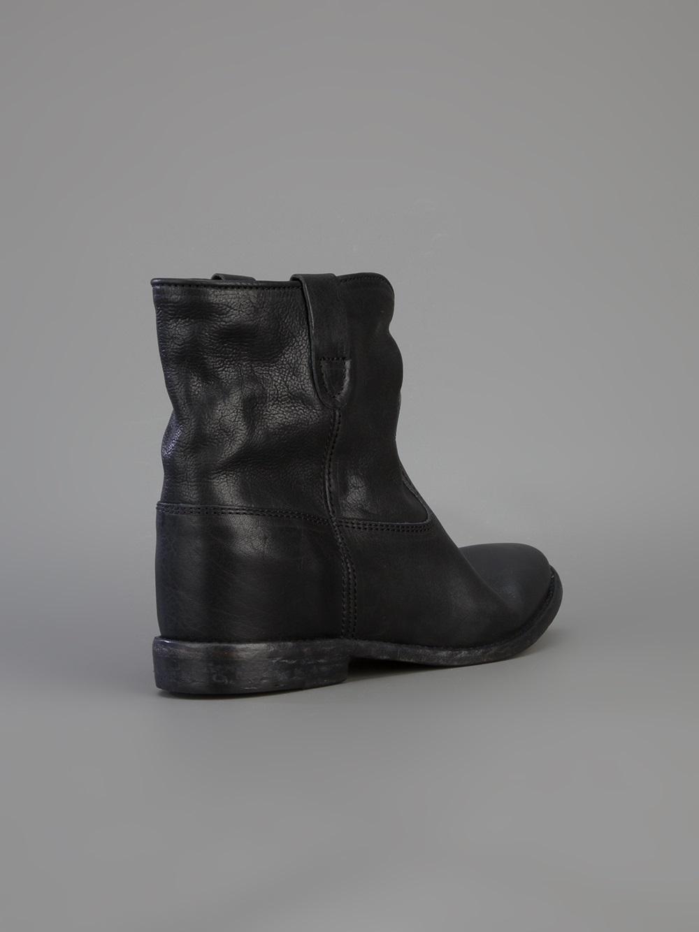 isabel marant cluster concealed wedge boot in black lyst. Black Bedroom Furniture Sets. Home Design Ideas