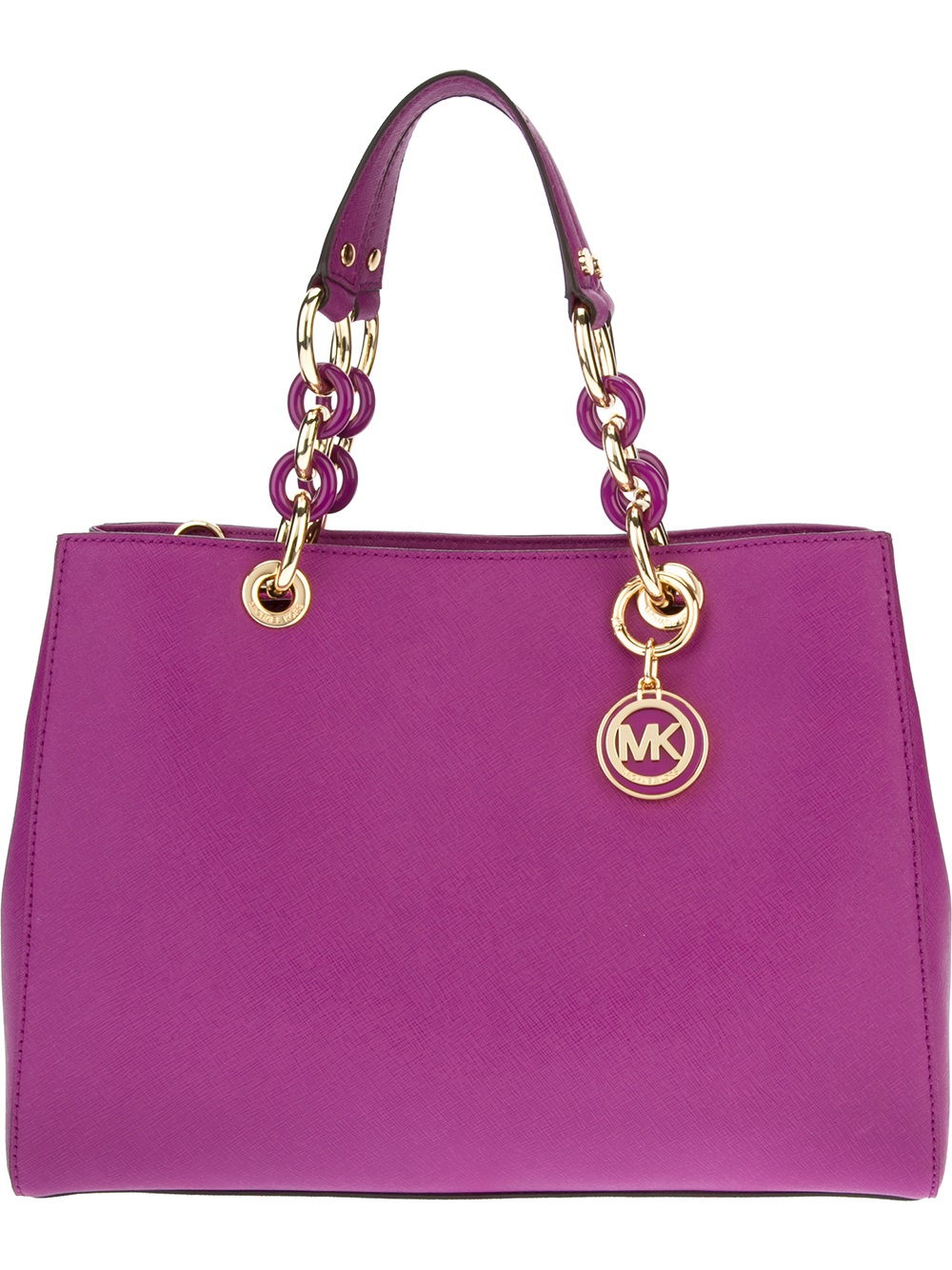 michael michael kors cynthia tote in pink lyst. Black Bedroom Furniture Sets. Home Design Ideas