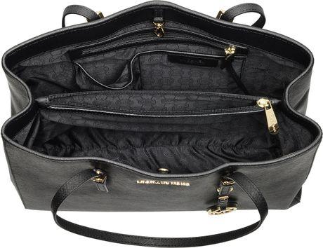michael kors jet set travel saffiano leather tote in black. Black Bedroom Furniture Sets. Home Design Ideas