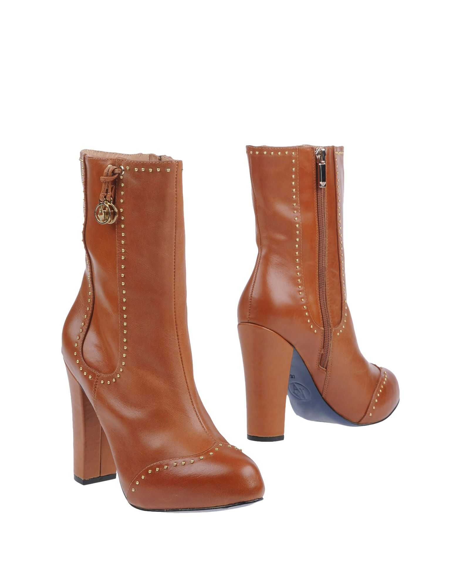 Armani Jeans Ankle Boots In Brown Lyst