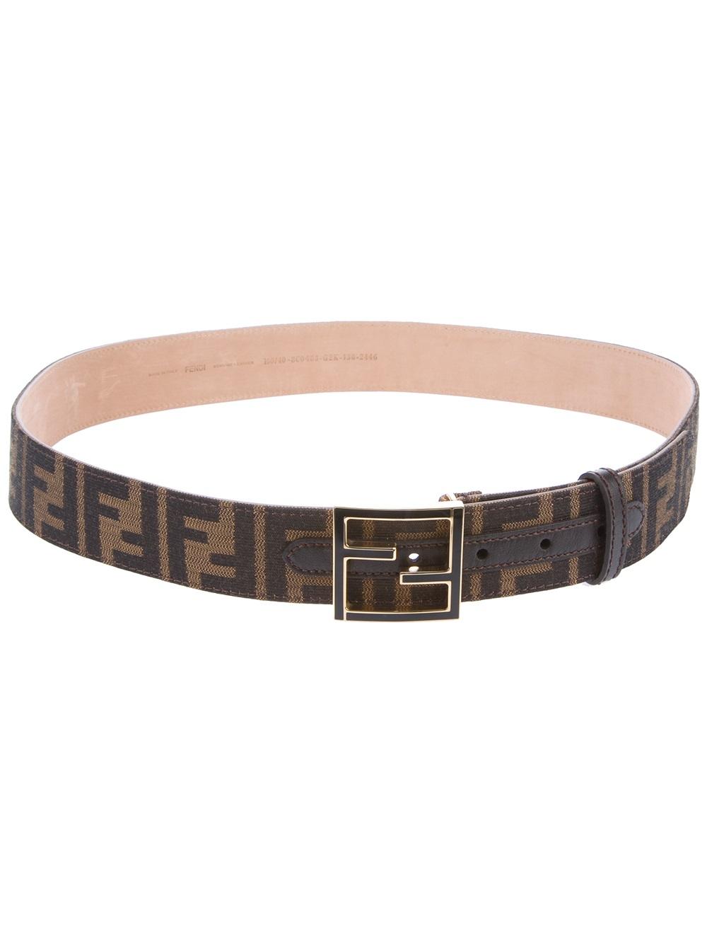 fendi monogram belt in brown for tobacco lyst