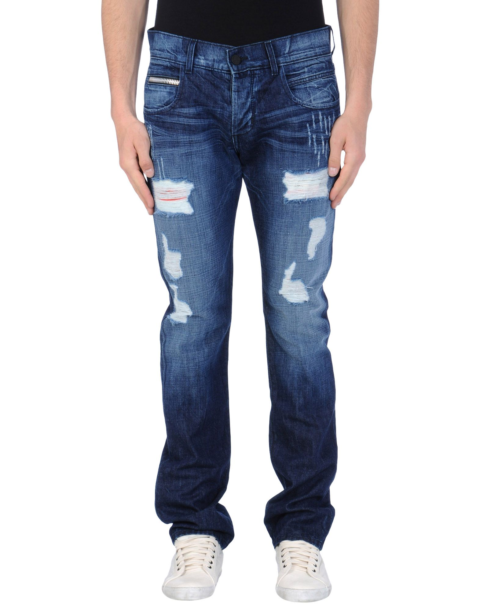 Rockstar Distressed Straight Jeans in Blue for Men