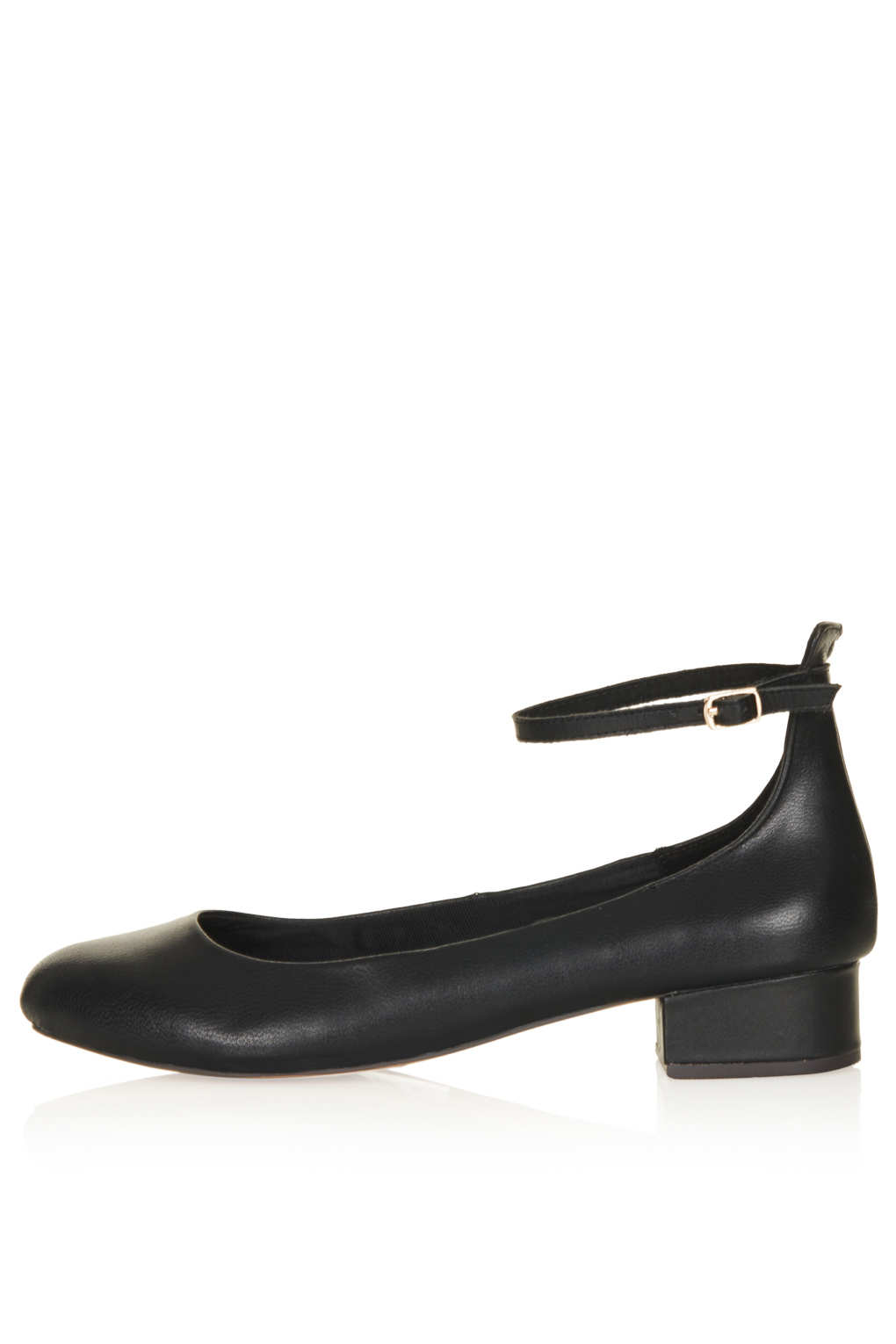 Black Wedge Dolly Shoes