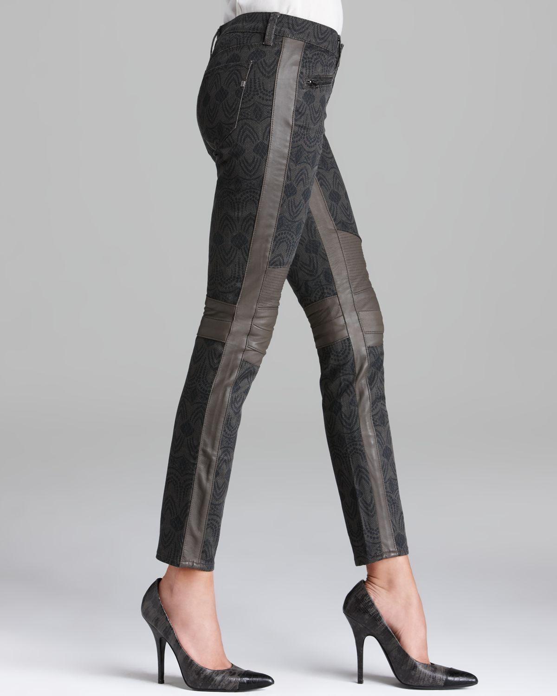 Genetic Denim Jeans Sadie Skinny Moto in Reign in Black