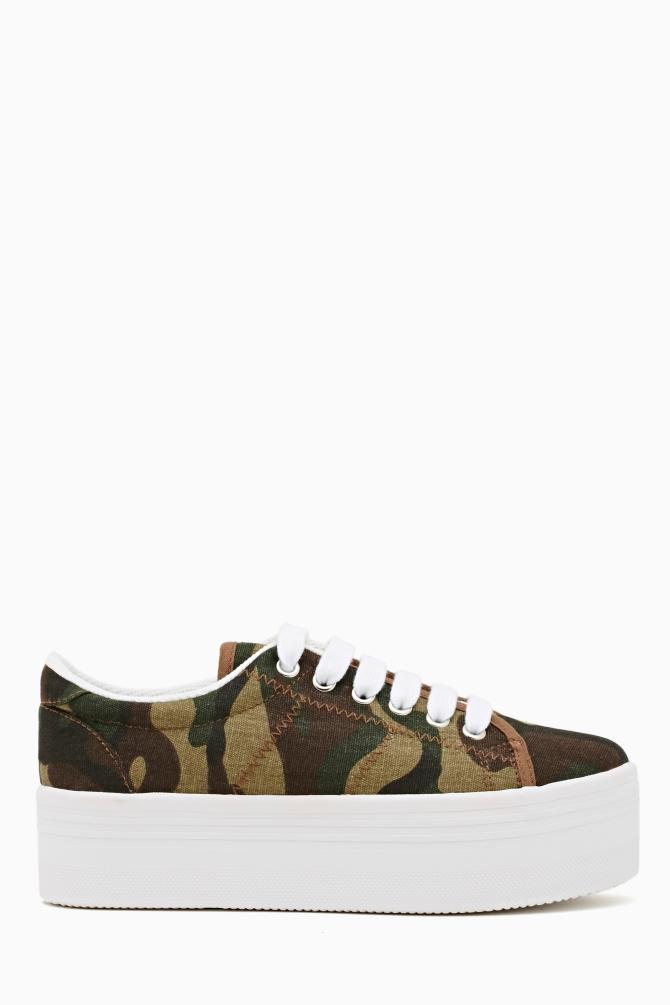 Nasty Gal Zomg Platform Sneaker Camo in