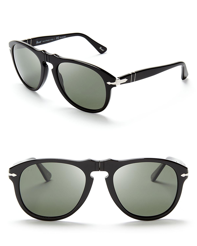 7559f17a418 Lyst - Persol Suprema Polarized Retro Keyhole Sunglasses in Black ...