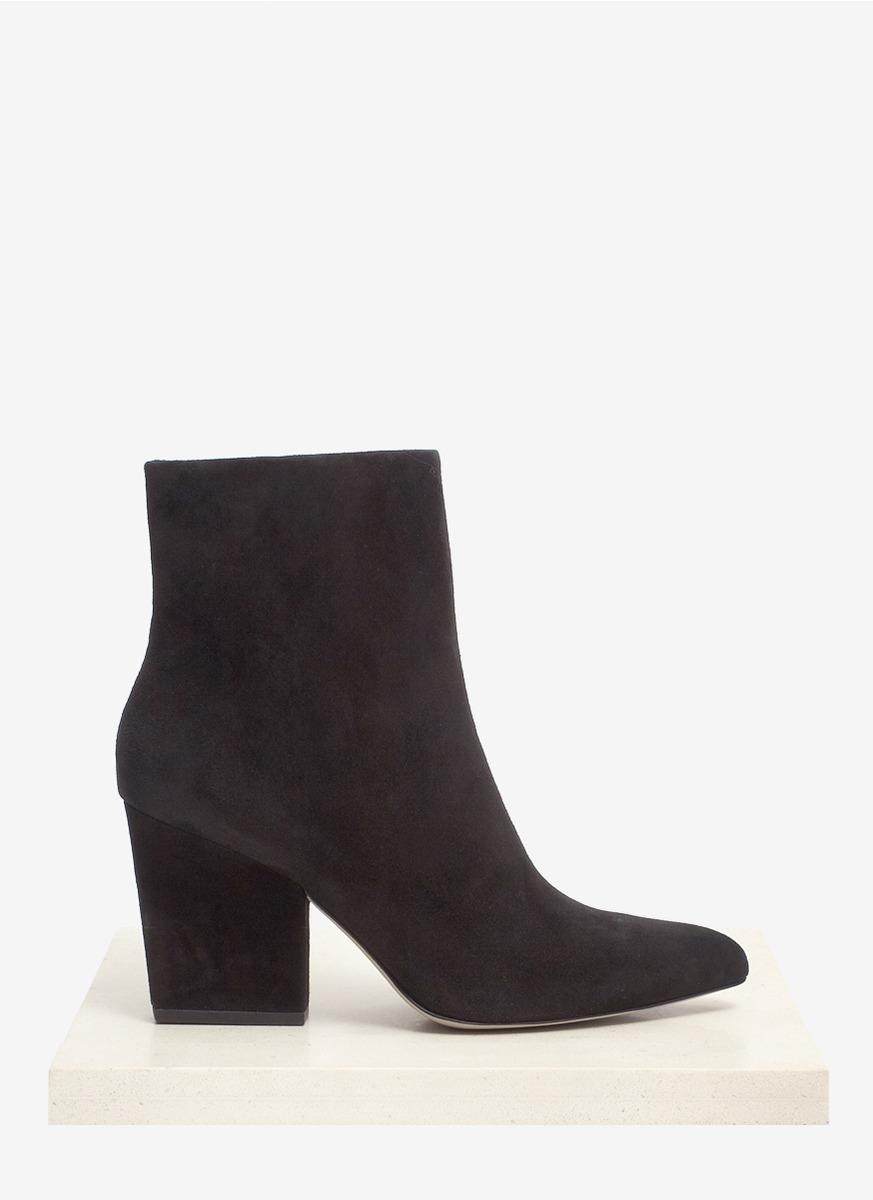 wang sunniva block heel suede ankle boots in