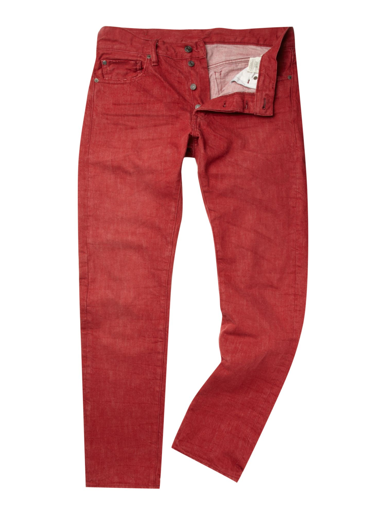 denim supply ralph lauren bright slim fit jeans in red. Black Bedroom Furniture Sets. Home Design Ideas