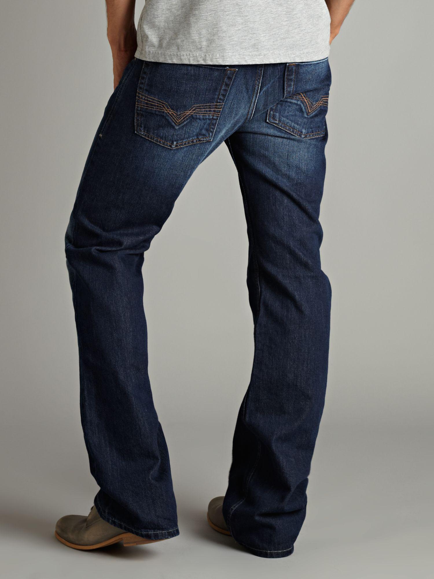 Diesel Zatiny 8J4 Dark Wash Bootcut Jeans in Blue for Men ... Diesel Jeans Men Bootcut