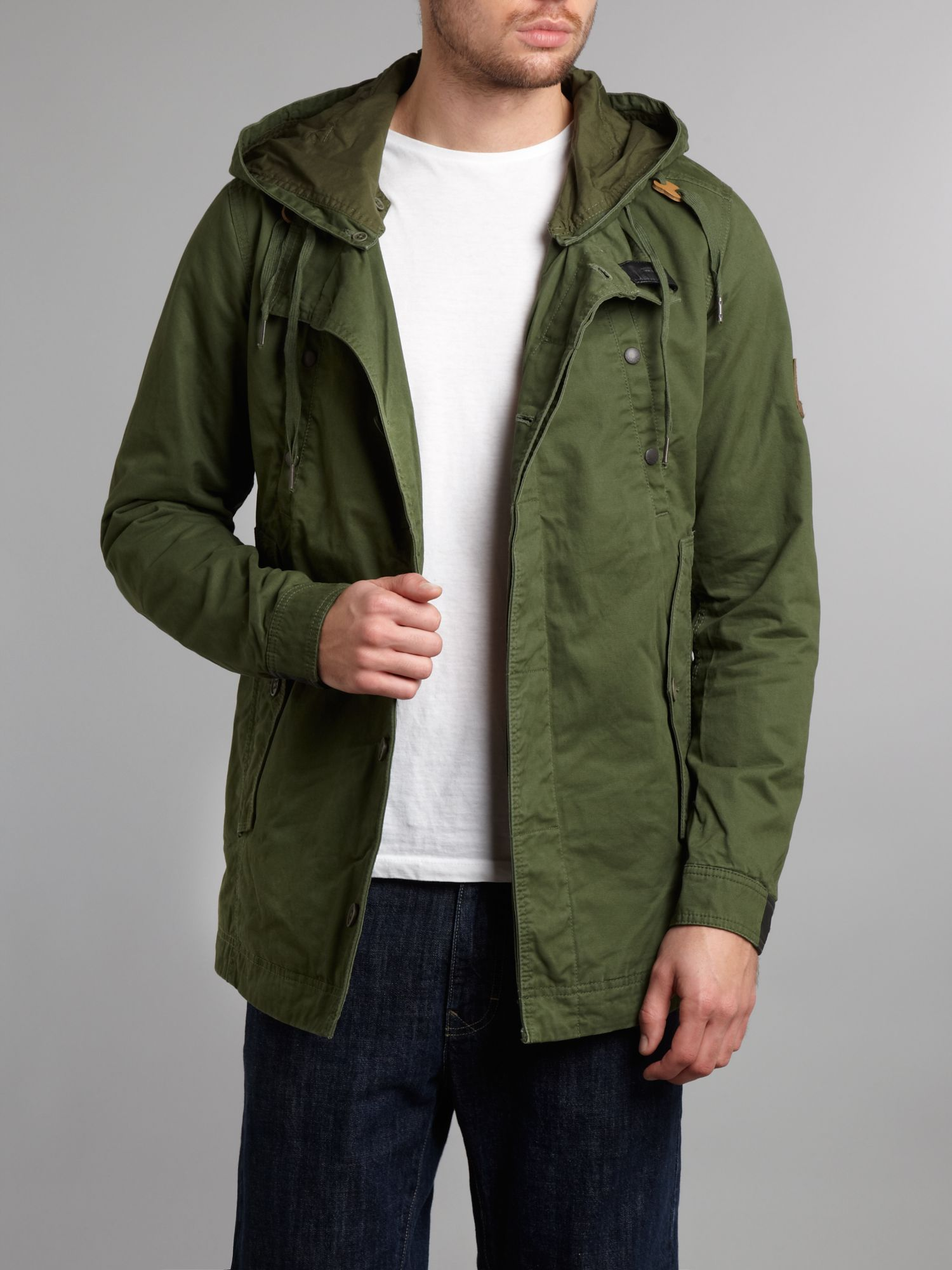 Green Parka Coat Men - JacketIn