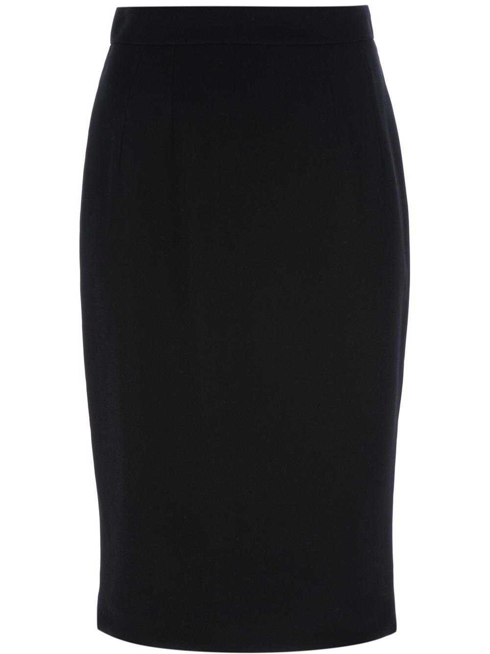dolce gabbana knee length pencil skirt in black lyst