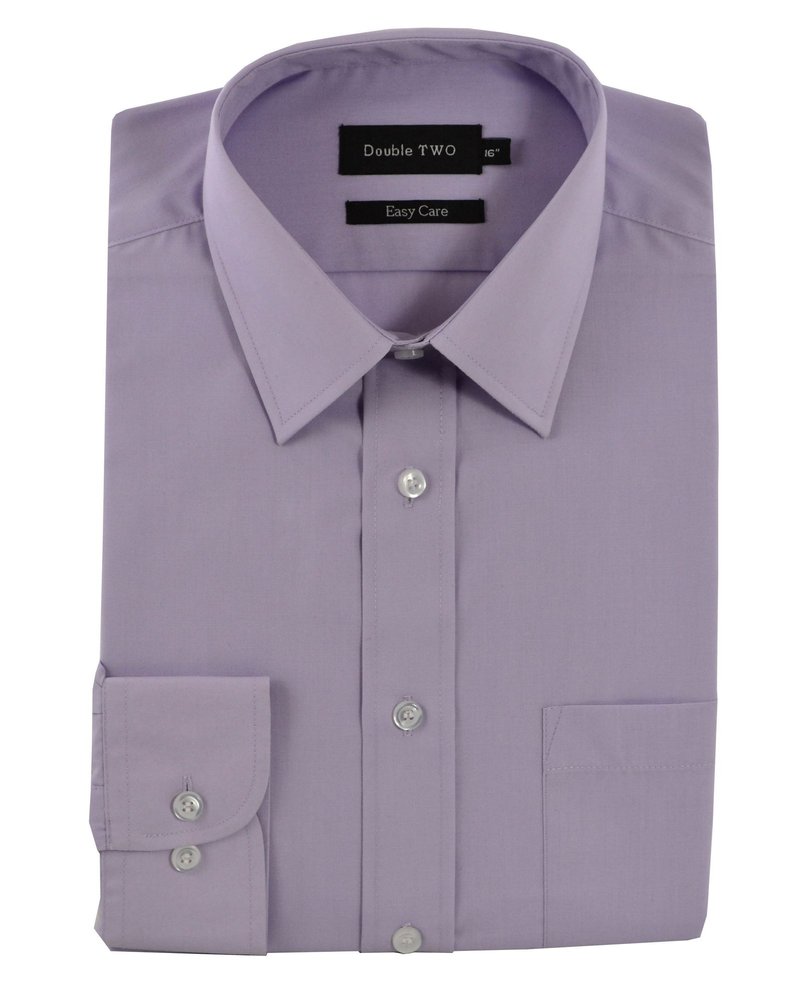 Double two extra tall custom fit shirt in purple for men lyst for Extra long dress shirts