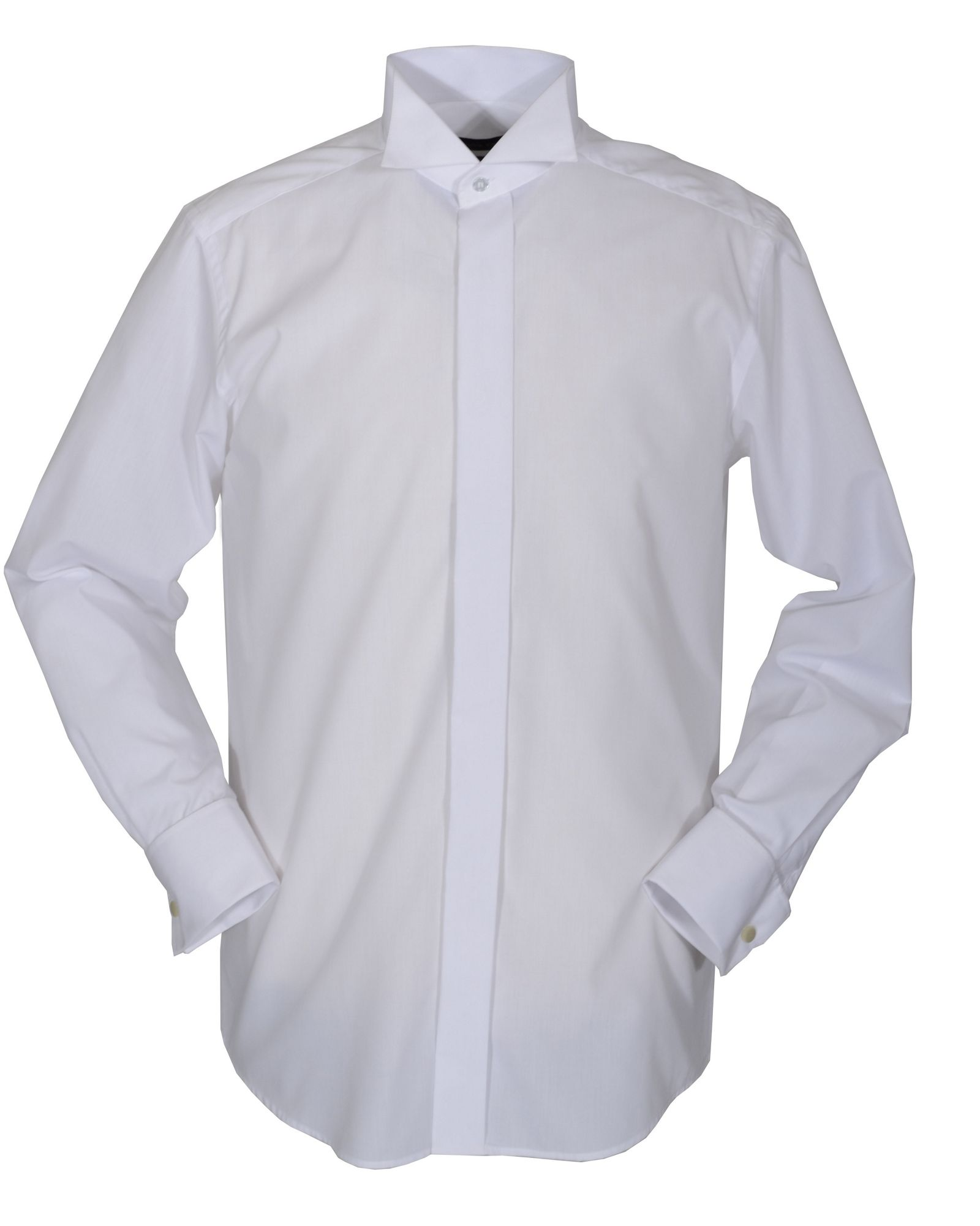 Double two Plain Wing Collar Dress Shirt in White for Men | Lyst