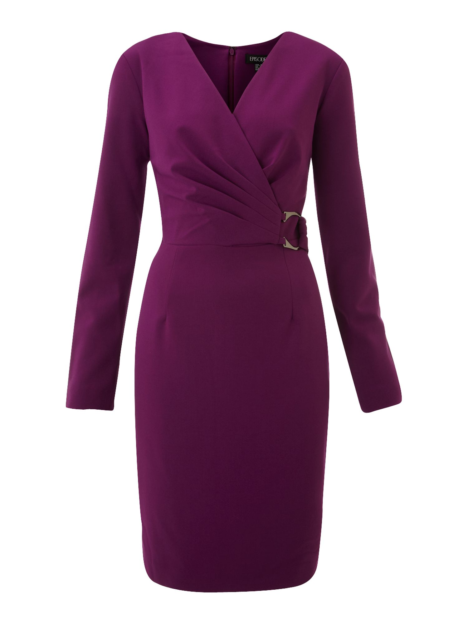 Episode Wrap Dress With Buckle In Purple Lyst