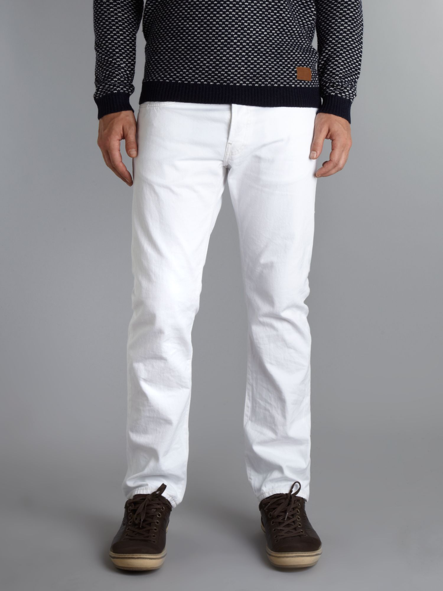 G-star raw Slim Spend Destroy Washed Jeans in White for ...