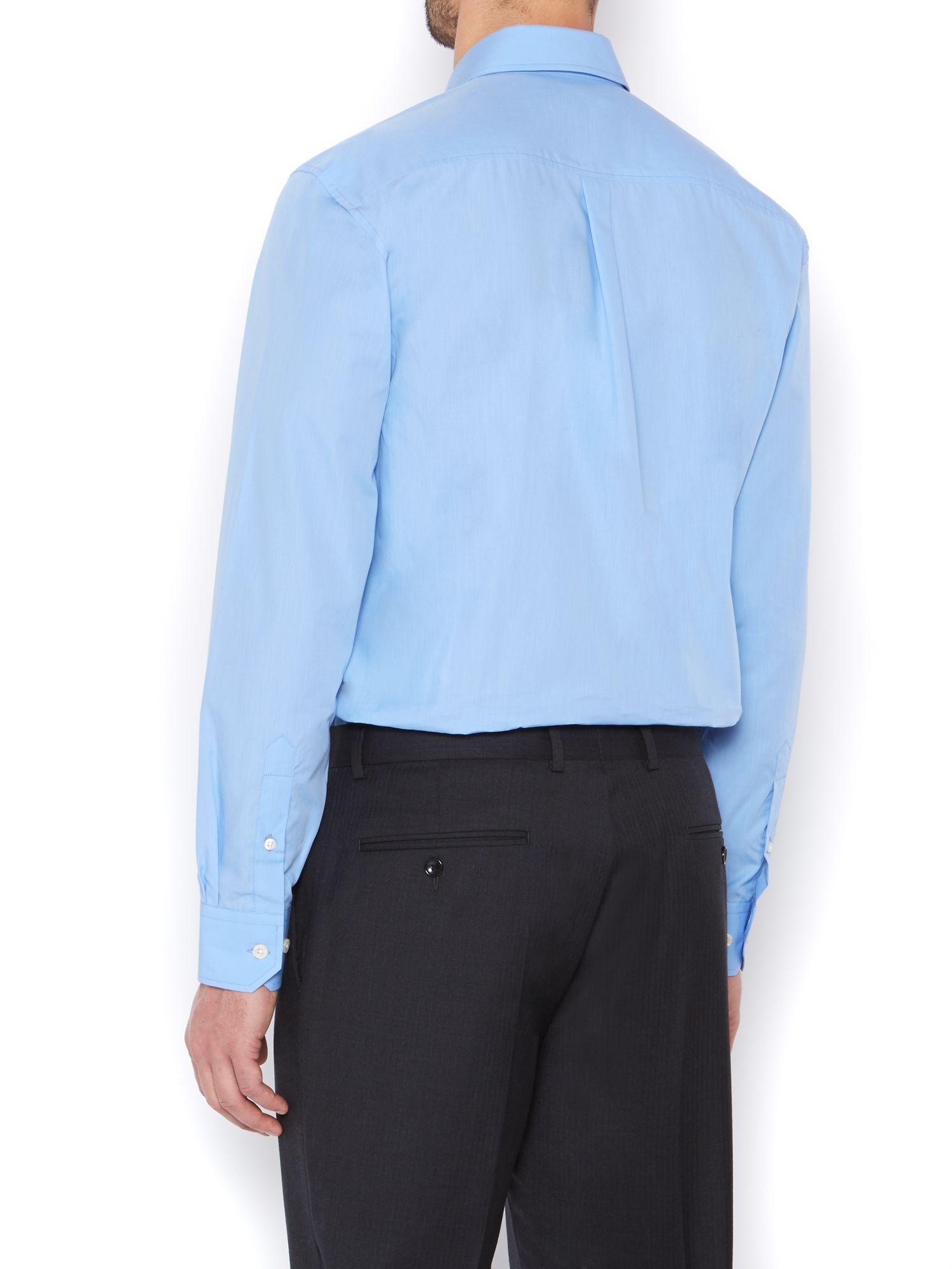 Howick Luxury Poplin Formal Shirt in Cornflower (Blue) for Men