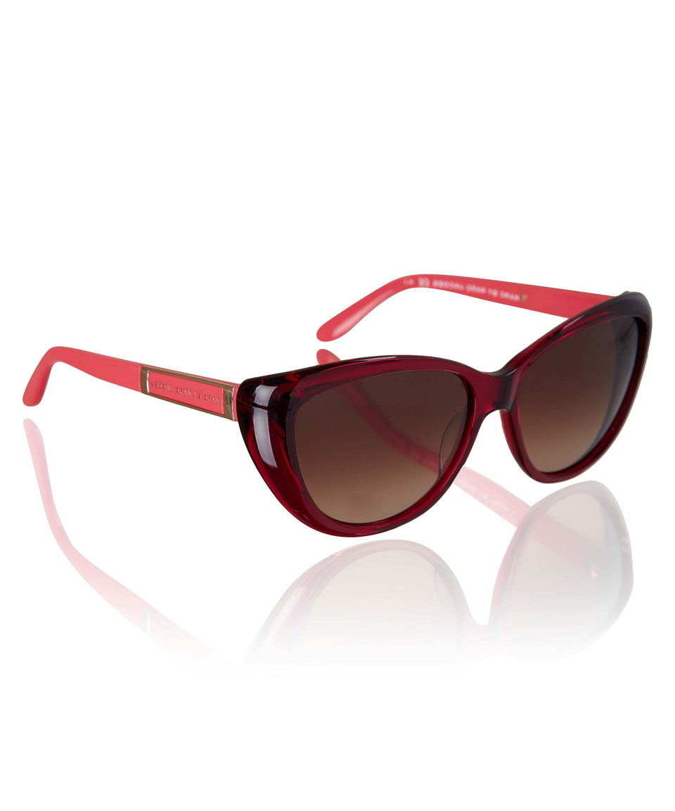Marc Jacobs Red Sunglasses  marc by marc jacobs red cat eye sunglasses in red lyst