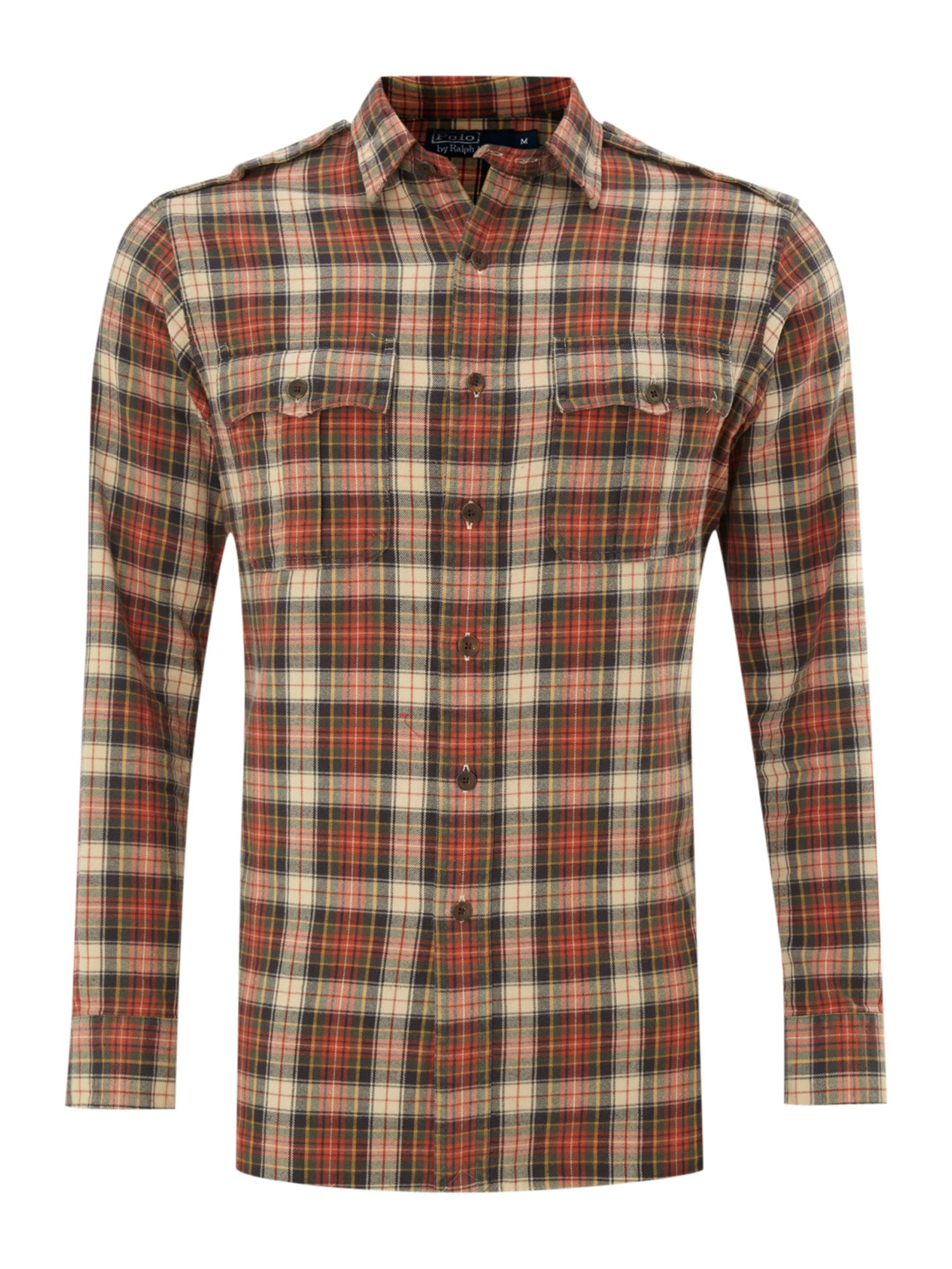 Polo Ralph Lauren Long Sleeved Flannel Plaid Shirt In