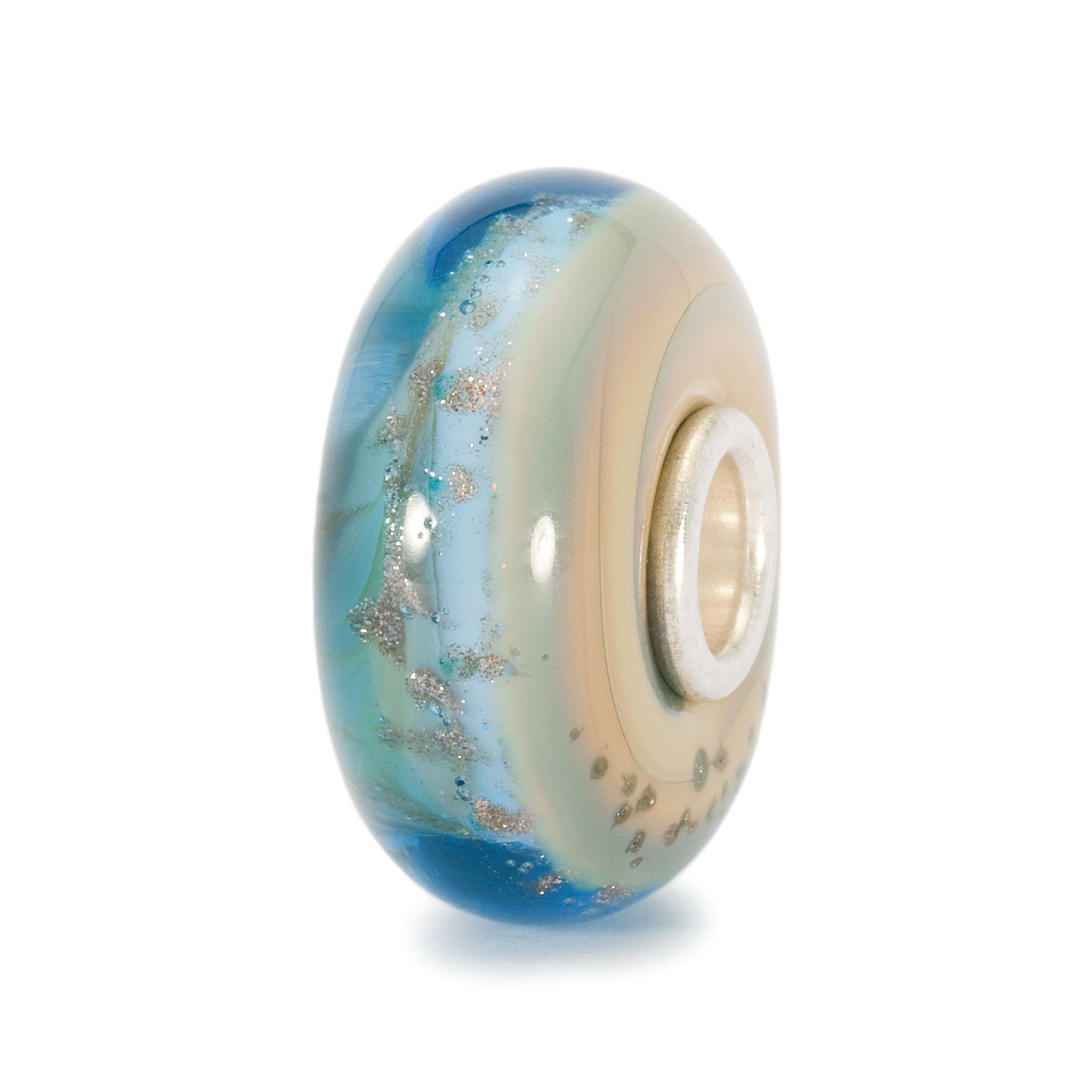 Trollbeads Beach Glass Charm Bead In Blue Lyst