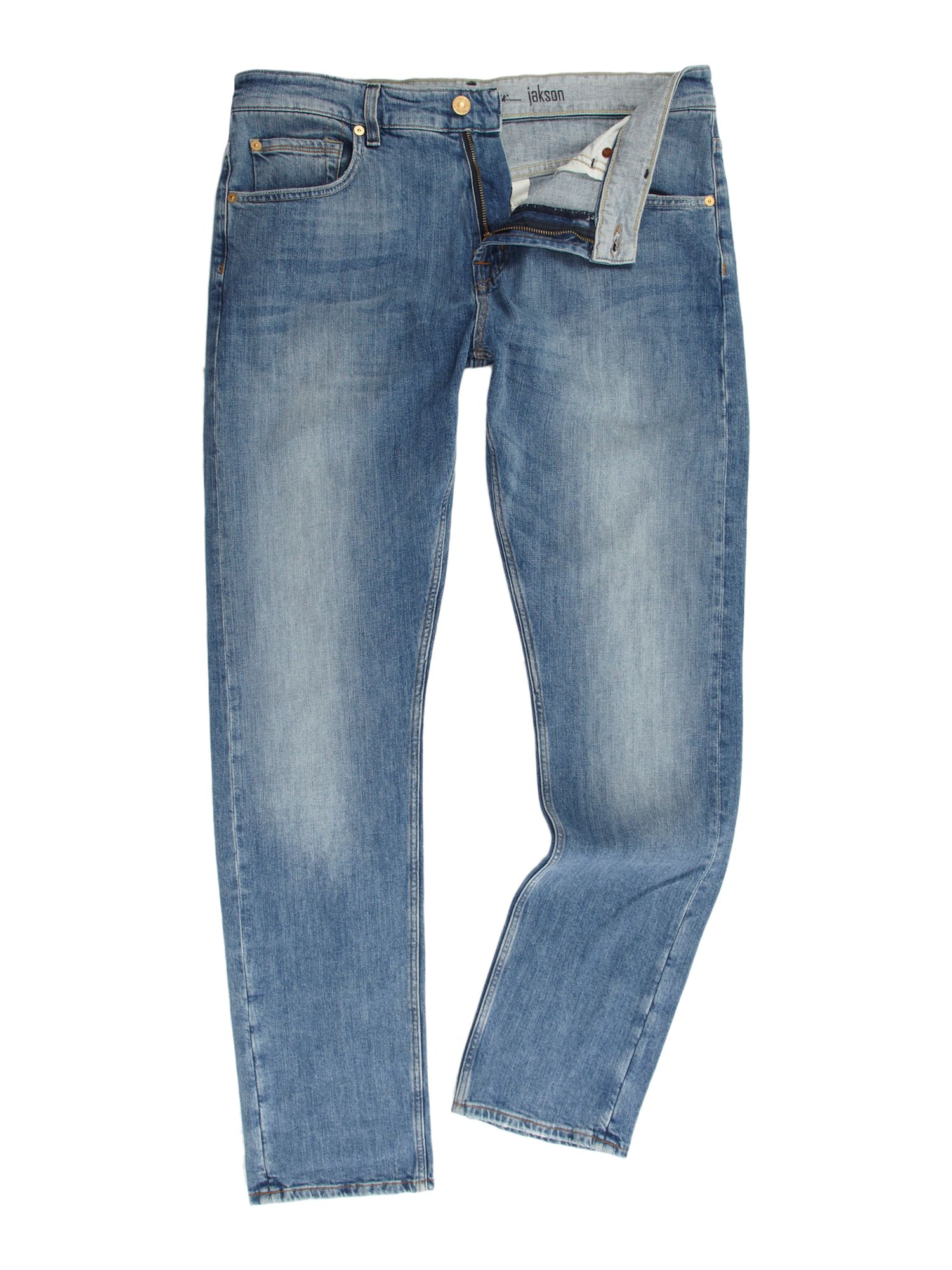 7 for all mankind jackson tapered jeans in blue for men lyst. Black Bedroom Furniture Sets. Home Design Ideas
