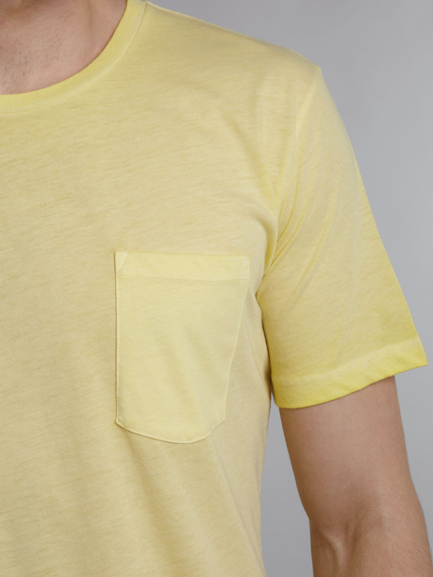 7 For All Mankind One Pocket Tshirt in Yellow for Men