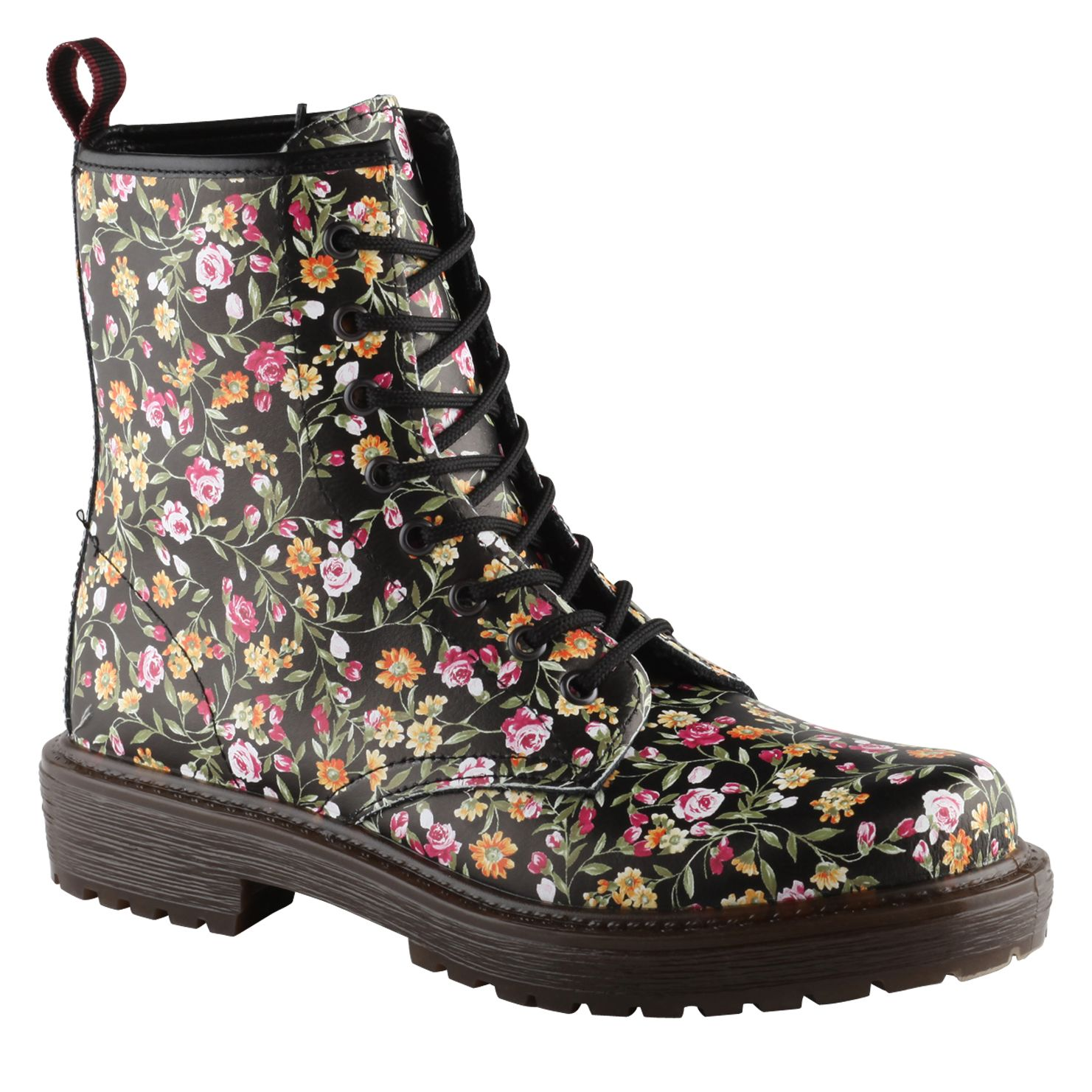aldo castlebara lace up boots in floral black lyst